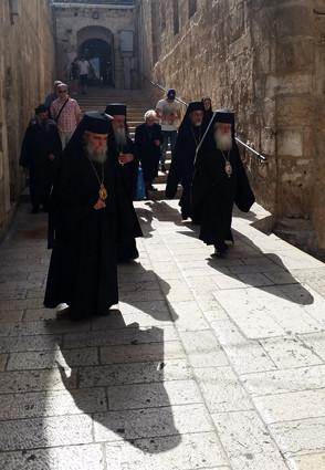 Jerusalem, griechisch-orthodoxe Prozession