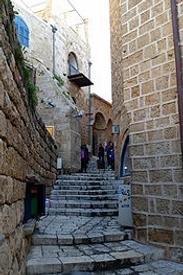 Israel Tel Aviv Jaffo Altstadt Gassen
