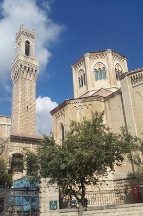 Das Italienische Krankenhaus in der Prophetenstraße in Jerusalem