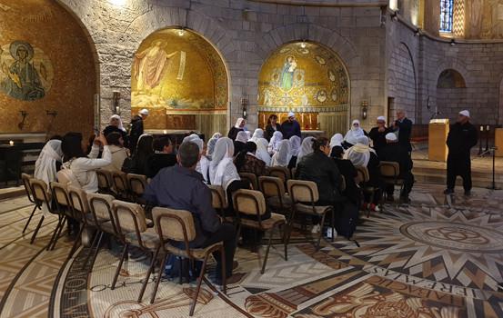 Drusen in der Dormitio auf dem Zionsberg in Jerusalem