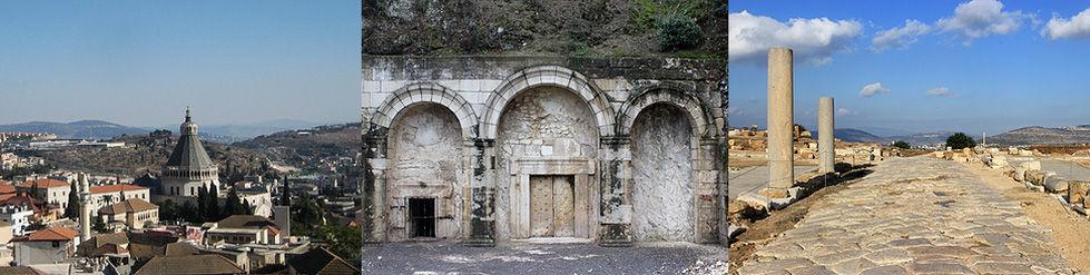 Israel Nazareth Verkündingungdkirche Galil Bet Schearim Grab Jehuda Ha-Nasi Sepphoris Cardo