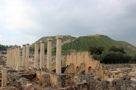 Israel, Bet Scheans antike Ruinen