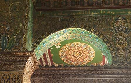 Jerusalem, Felsendom, Arkaden mit Mosaiken des 7. Jahrhunderts