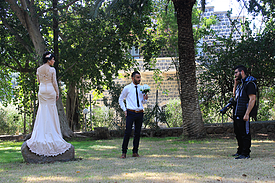 Israel See Genezareth Park Primatskirche Hochzeit
