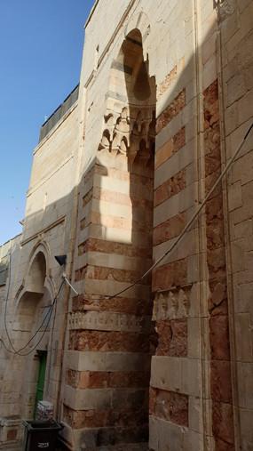 Jerusalem Altstadt, at Takkiyyah-Straße: Fassade des Palastes der Dame Tunschuk