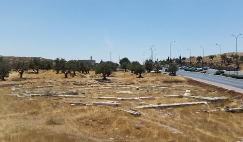 Die Überreste der achteckigen Kathismakirche am Rand der Straße 60, dem alten Patriarchenweg von Jerusalem nach Hebron.