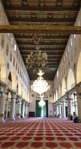 Jerusalem, al-Aqsa-Moschee Hauptraum