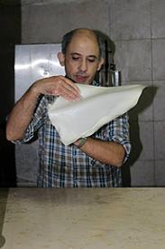 Israel Jerusalem Altstadt Mutabak Bäcker