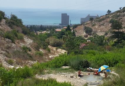 Das Wadi Siach südlich von Haifa mit seinen kleinen Quellbecken