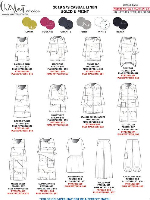 Casual Linen Solid & Print