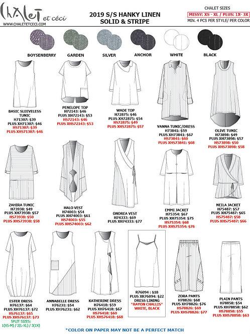 Hanky Linen Solid & Stripe