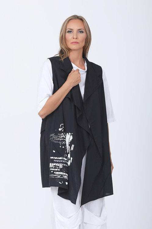 Marin Vest with Grunge Print 9CT4833