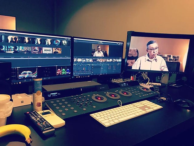 Grading session for CNA Documentary. __#