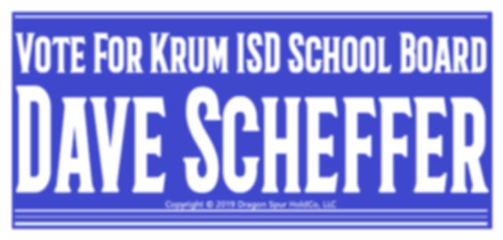 Vote4DaveScheffer - Bumper Sticker 001 -