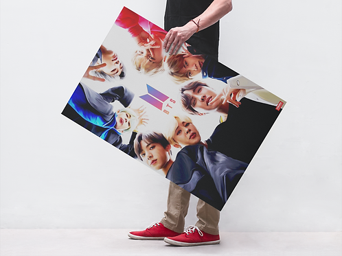 BTS BAND FACES - POSTER