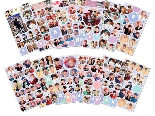 BTS Kpop Uncut Sticker Sheet (Random Design)