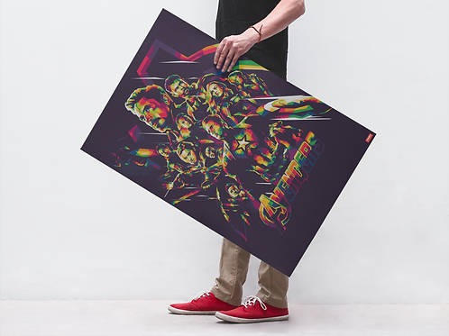 AVENGERS MULTICOLORED - POSTER