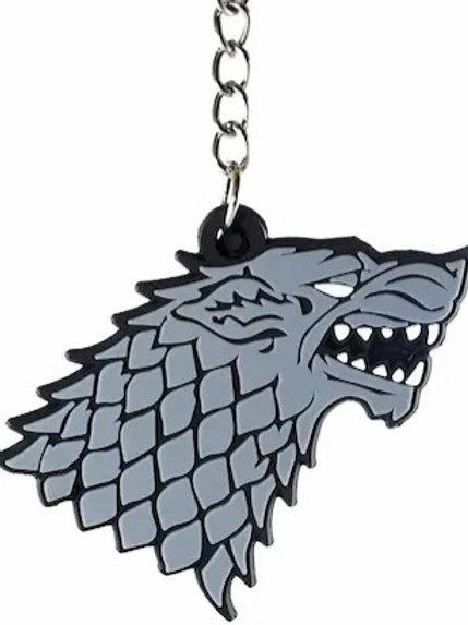 Stark Wolf Silicone - Keychain
