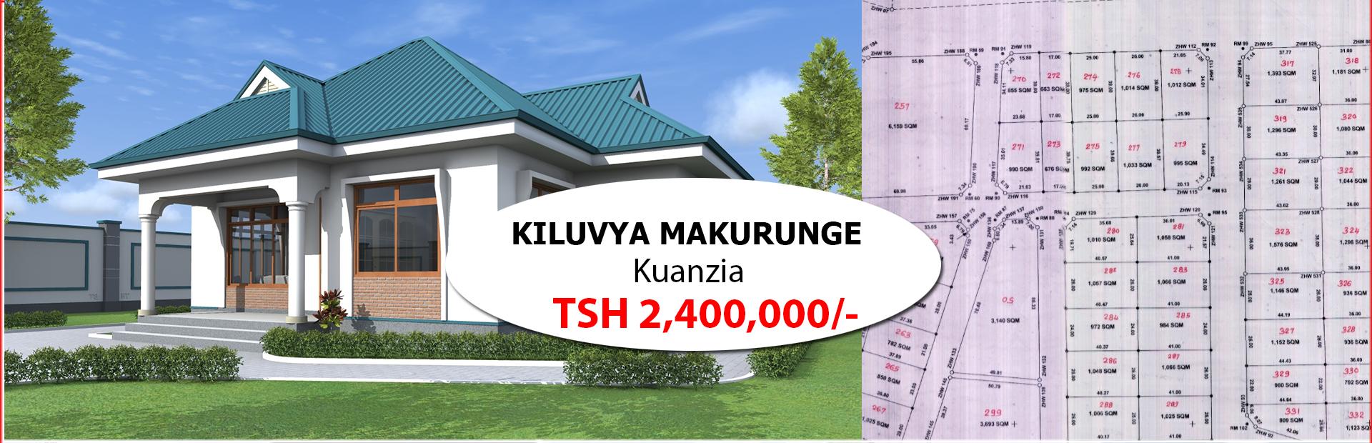 Kiluvya Kimochi-Kuanzia Tsh. 2,400,000/-