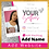Thumbnail: Pink, White, Silver Glitter Tag Us in Your Selfies E-Flyer