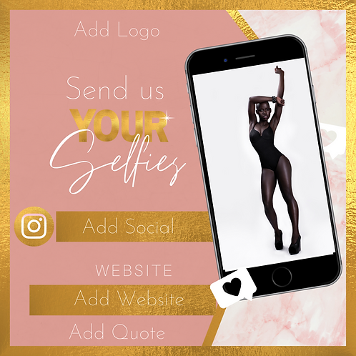 PNK/Marble Send Us Selfies Flyer