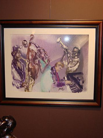 Backroom Jazz on display