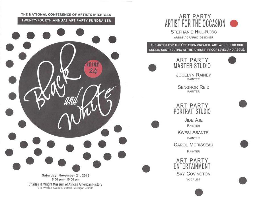 2015 Nca Art Party programme