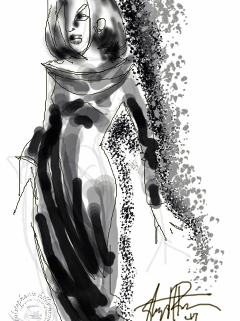 fashion scribble