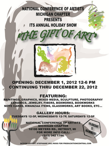 Holiday event promotional flyer