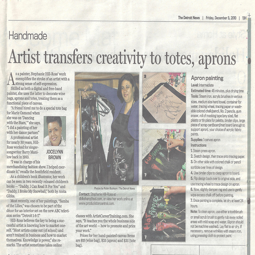 Detroit News Article on the artist