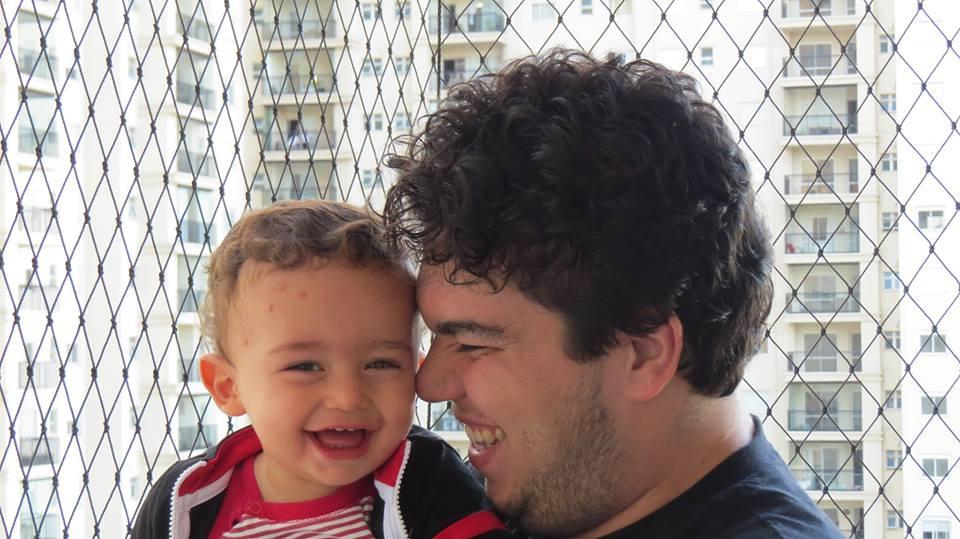 Homem com seu filho
