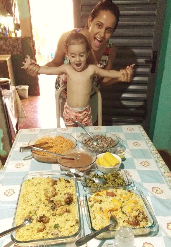 Almoço na casa da tia