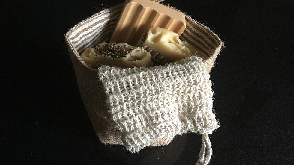 2 soap gift bag