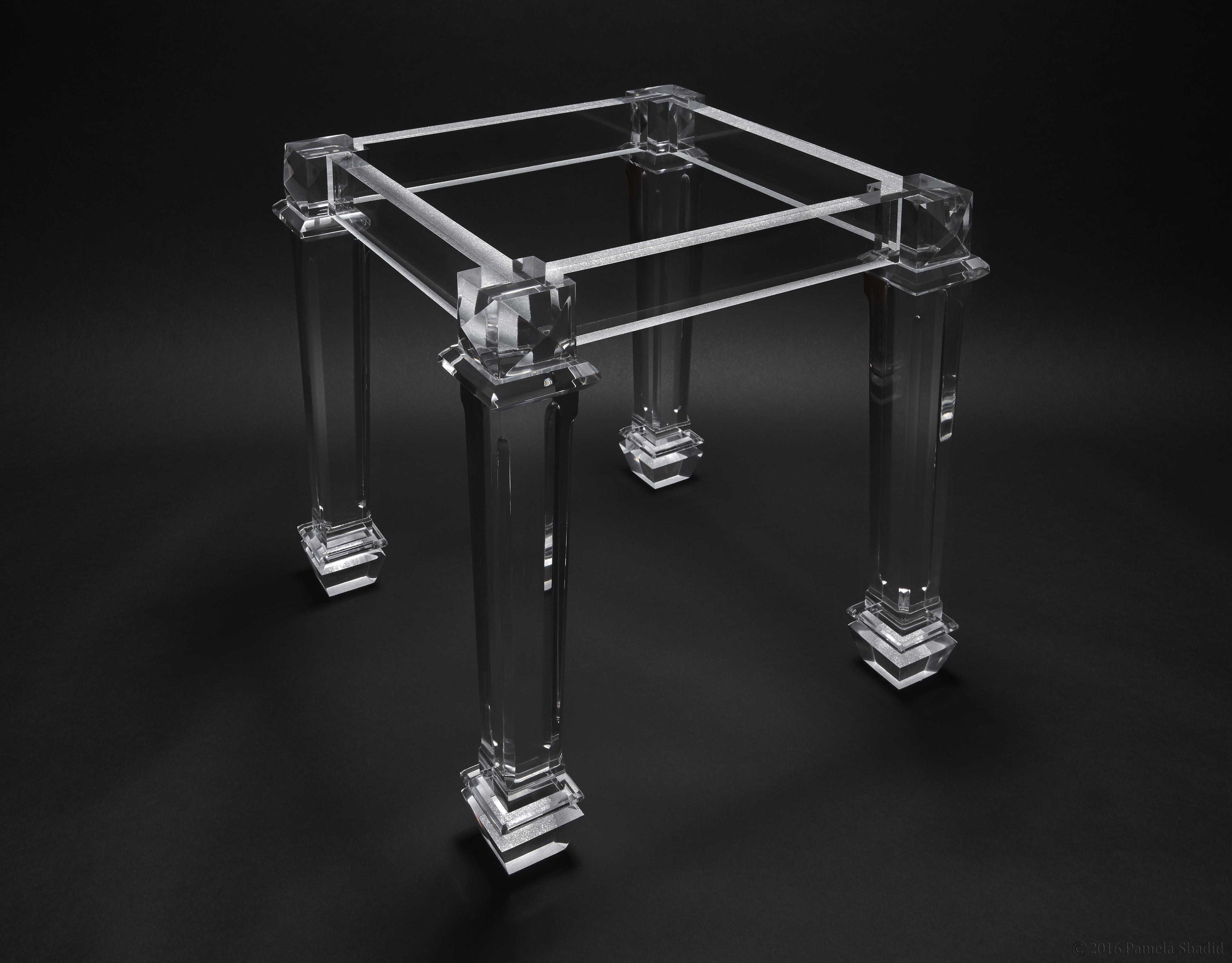 Custom Acrylic Side Table