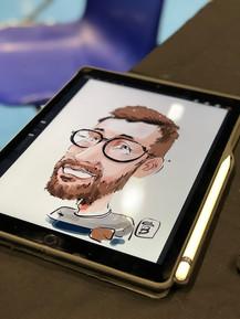 Caricature sur Ipad