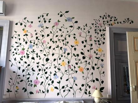 Fresque chambre d'un particulier