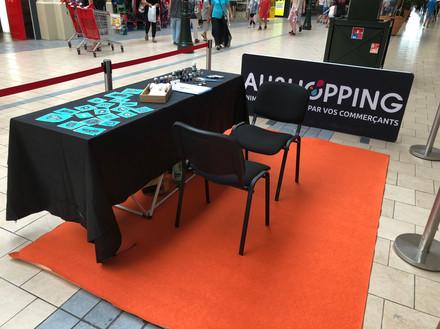 Animation dans un centre commercial