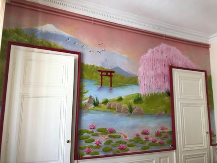 Fresque salon chez un particulier