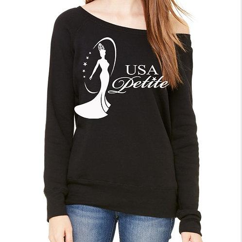 USA Petite Logo Ladies Off Shoulder Sweatshirt