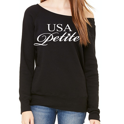 Logo Ladies Off Shoulder Sweatshirt
