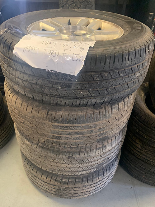 2004-2008 F150 6 Lug- Set of 4 Rims & Tires