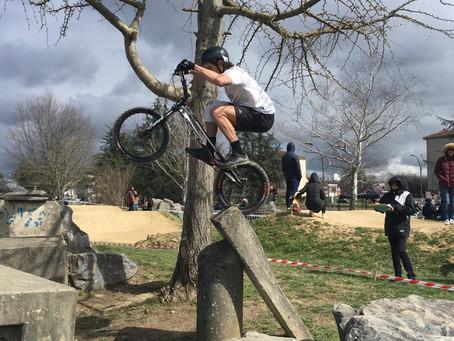 Début de saison à Pau pour le VTT Trial