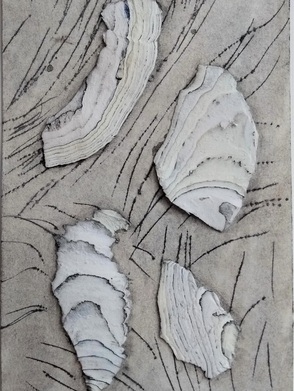 Find 18x11 cm, collage of old drawings,