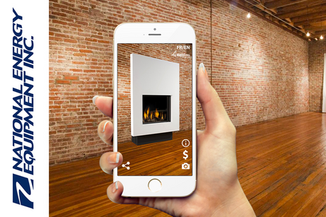 Augmented Reality  app for fireplaces