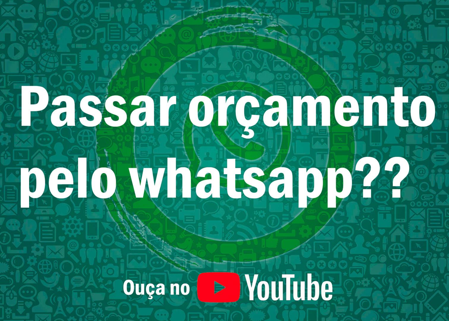Orçamento por whatsapp