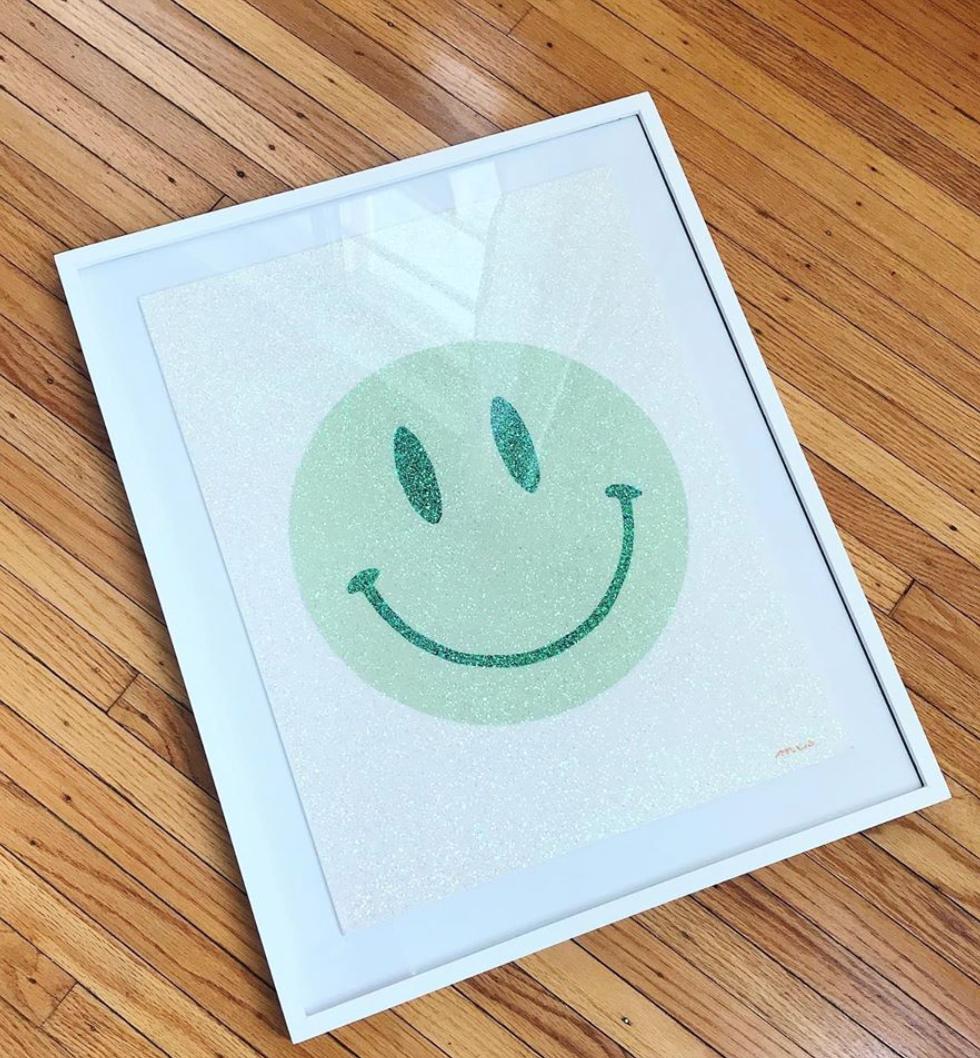 Glitter Smiley
