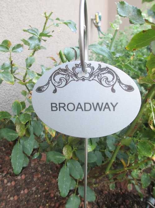 Fancy Engraved Aluminum Hang Tag