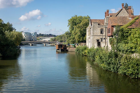 The river Medway at the County town of M
