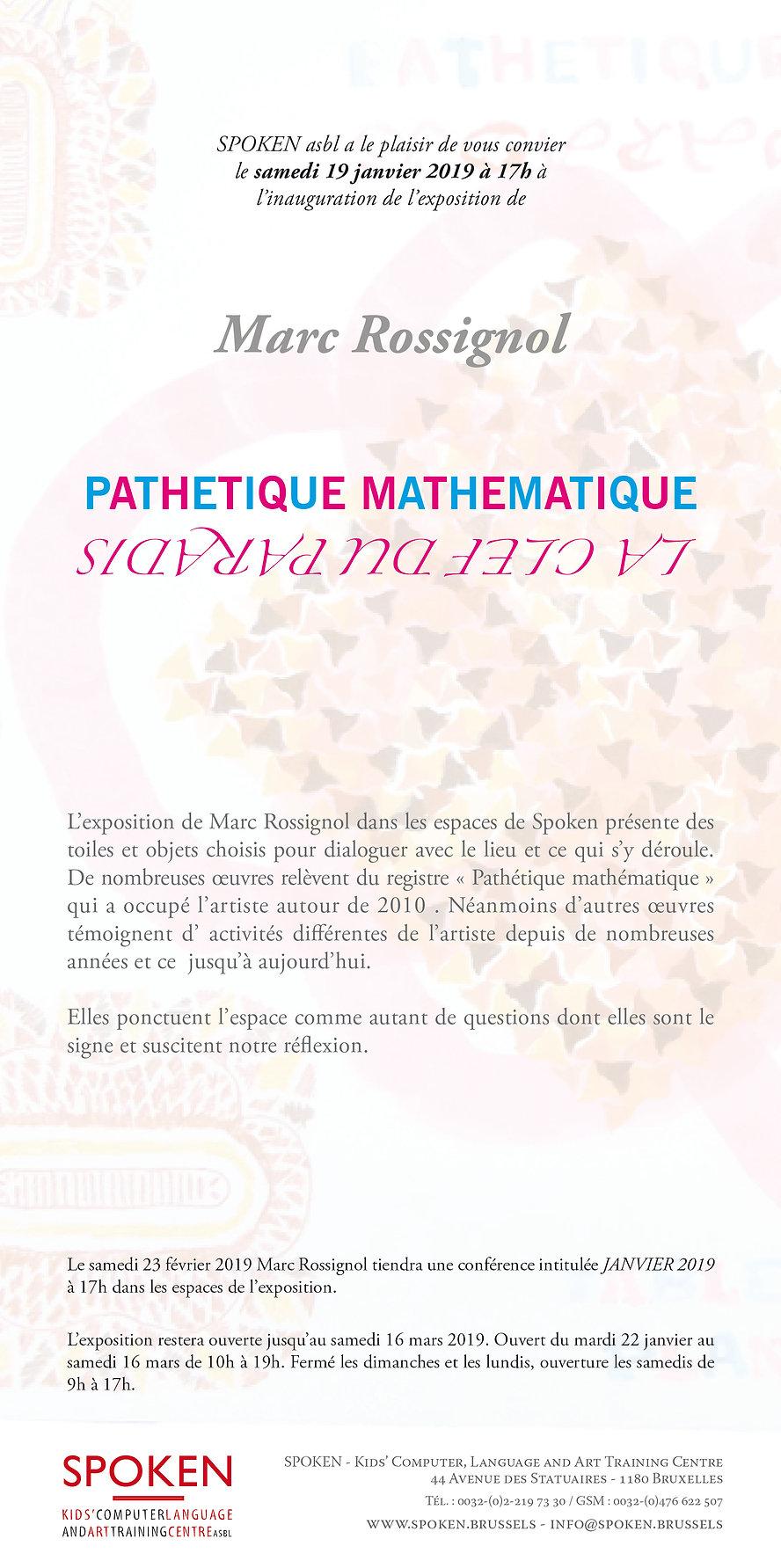 Invitation exposition MARC ROSSIGNOL che