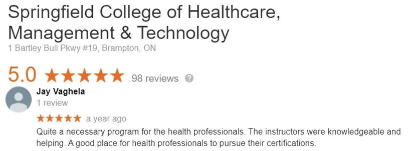 Patient Assesment Certificate Program Review
